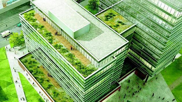 Tieto Tower, tedy kancelářské budovy, který začne stavět na náměstí Republiky společnost CTP, navrhl architekt Václav Hlaváček ze Studia Acht.