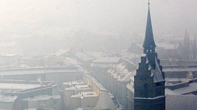 Smog v Ostravě.