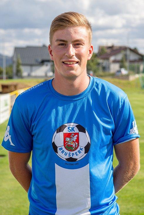 Fotbalový klub - Spolek SK Brušperk, 26. srpna 2020 v Brušperku. Jan Čejka (obránce)