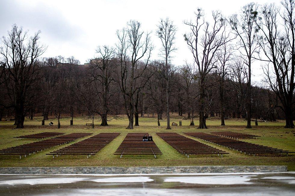 Přírodní památka Obora Hukvaldy, 23. ledna 2021.