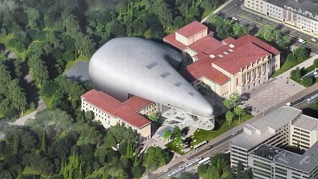 Vizualizace koncertní haly v Ostravě.