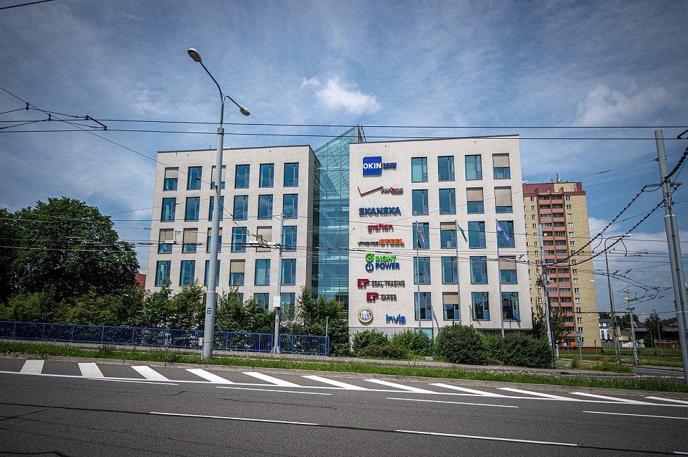 Budova Nordica kde sídlí IT firmy Verizon Communications a Okin BPS, 2. července 2020 v Ostravě.
