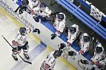 Utkání 32. kola hokejové extraligy: HC Vítkovice Ridera - PSG Berani Zlín, 4. ledna 2019 v Ostravě. Na snímku (zleva) Mrázek Jaroslav.