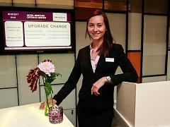 Shiftleader recepce hotelu Mercure Ostrava Center Eva Peschlová.