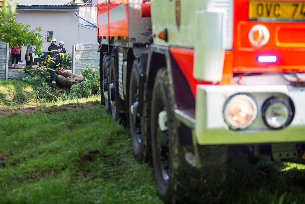 Zásah hasičů v Bravanticích na Novojičínsku.