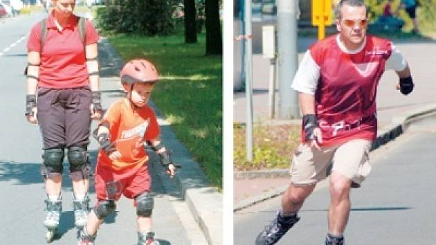 Jízda na kolečkových bruslích bez helmy je hazard se zdravím. Dospělí by měli mít zodpovědnost sami za sebe, za děti pak rozhodují rodiče.
