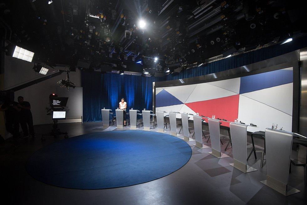 Debata kandidátů na primátora města Ostravy v České televizi, 13. září 2018 v Ostravě.
