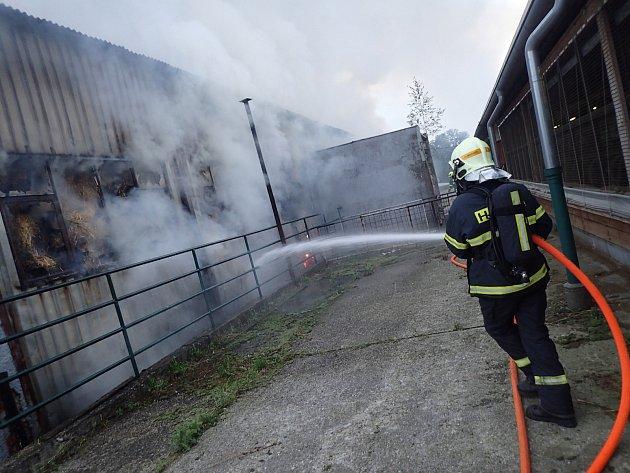 Požár v Janovicích.