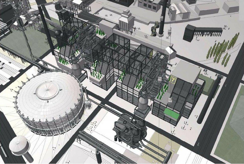 Vizualizace. MUSEum+ v Dolních Vítkovicích v Ostravě. Takto by mohlo vypadat podle předběžné vizualizace.