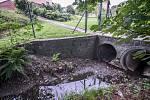 Jedno ze záplavových území v ostravské městské části Stará Bělá.