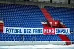 Zápas Fortuna ligy mezi FC Baník Ostrava a FC Viktoria Plzeň (0:2). 31. února 2021 v Ostravě.