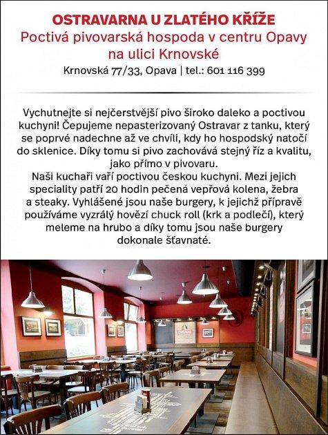 Ostravarna UZlatého kříže, Krnovská 77/33, Opava
