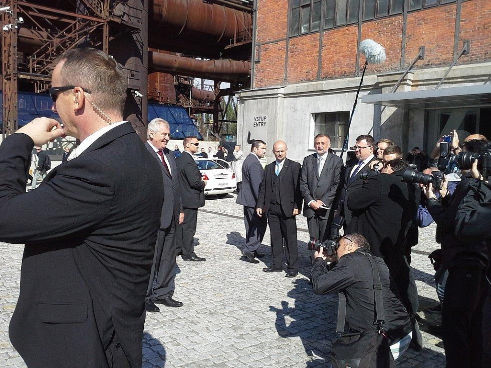 Prezident Zeman na návštěvě Vítkovic