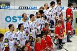 Snímek z utkání HC Vítkovice Steel - HC Oceláři Třinec.