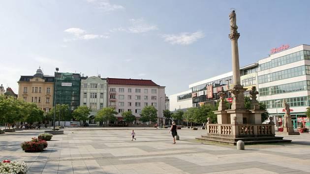 Prázdné centrum Ostravy.