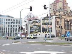 Světelné přechody pro chodce v centru Ostravy.
