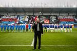 Také fotbaloví ultras Baníku se během sobotního domácího šlágru s mistrovskou Plzní připojili k oslavám 100 let výročí vzniku Československa.