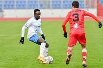 Dvacetiletý gambijec Muhammed Sanneh zaujal na testech a je novou posilou Baníku Ostrava do obrany. Foto: FC Baník Ostrava/Roman Vlachynský