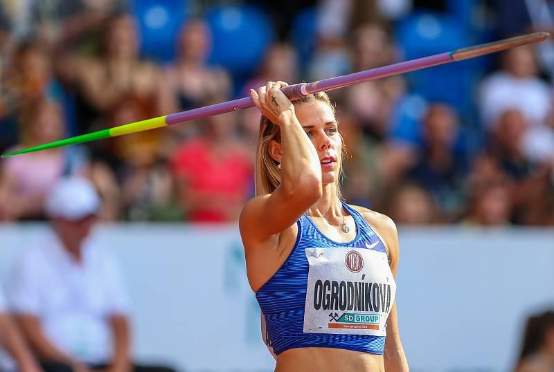 Atletický mítink IAAF World Challenge Zlatá tretra v Ostravě 20. června 2019. Na snímku Nikola Ogrodníková z (CZE).