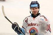 Josef Hrabal v dresu Vítkovic. Utkání 47. kola hokejové extraligy: HC Vítkovice Ridera - HC Oceláři Třinec, 22. února 2019 v Ostravě.