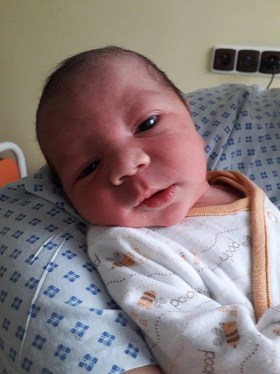 Lukáš Pulko z Rychvaldu, narozen 6. dubna 2021 v Havířově, váha 3580 g, míra 48 cm. Foto: Michaela Blahová