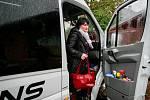 Debata v rámci projektu Deník-bus s volebními lídry za Moravskoslezský kraj. Na snímku Pavla Golasowská, KDU-ČSL
