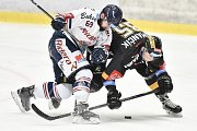 26. kolo hokejové extraligy: HC Vítkovice Ridera - HC Litvínov, 9. prosince 2018 v Ostravě. Na snímku (zleva) Roman Szturc a Suchánek Jakub.