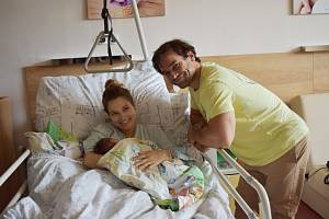 Lukáš Hradílek s rodinou.