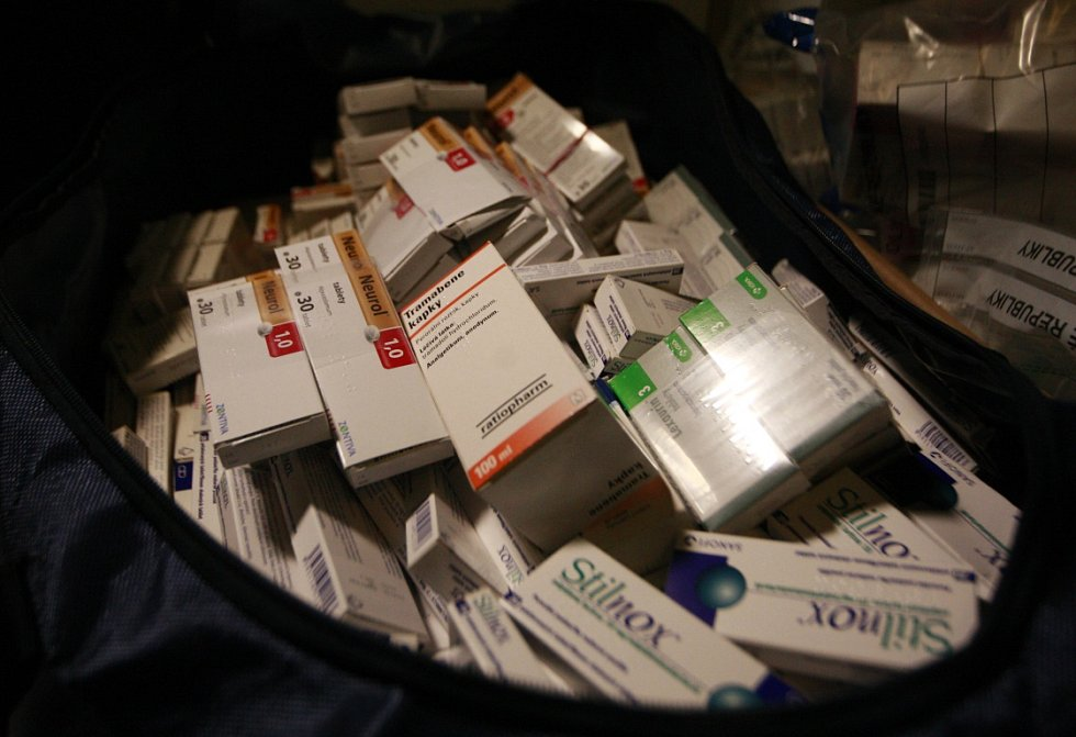 Zajištěné léky.