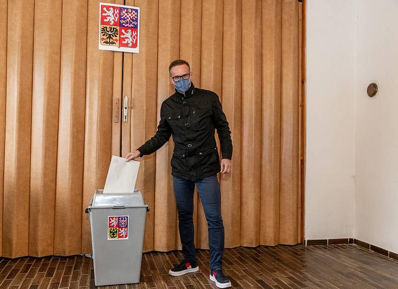 Sněmovní volby ve Frenštátě pod Radhoštěm na Novojičínsku, 8. října 2021.