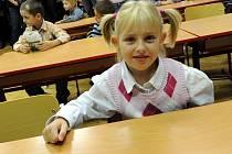 Noví prvňáčci usedli ve středu do lavic také v Základní škole Ostrčilově v Moravské Ostravě.