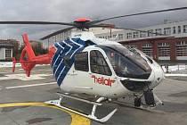 Vrtulník záchranné služby v MSK provozuje společnost Helikopter Air Transport.