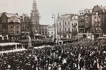 PREZIDENT. Dnešní Masarykovo náměstí mělo v roce 1924 tu čest přivítat na návštěvě prvního československého prezidenta T. G. Masaryka.