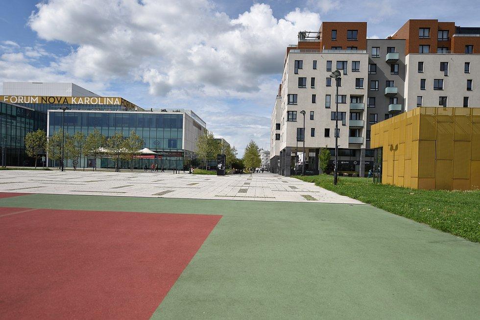 Okolí OC Forum Nová Karolina. Ilustrační foto.