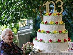 BOHUSLAVA STRAKOŠOVÁ oslavila už 103. narozeniny.