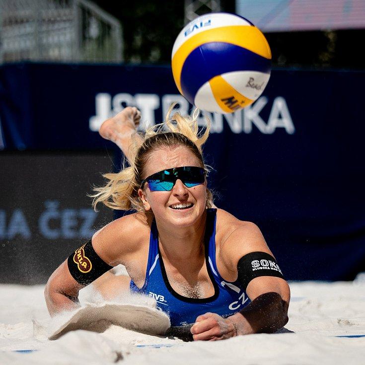 J&T Banka Ostrava Beach Open, 3. června 2021 v Ostravě. Michaela Kubíčková (CZE).