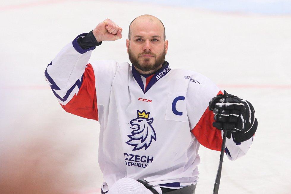Mistrovství světa v para hokeji 2019, 3. května 2019 v Ostravě. Na snímku Geier Michal (CZE).
