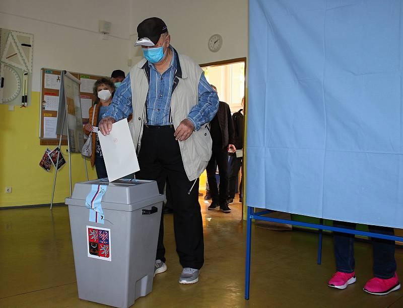 Sněmovní volby v Karviné-Hranicích, 8. října 2021.