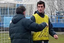 Argentický fotbalista Maxi Damiani na zkoušce v Baníku