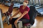PVeronika v Simply Fitness v Hrabůvce ještě v roušce po prvním uvolnění opatření.