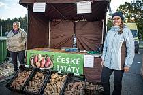 Farmářské trhy Futurum, 23. října 2021 v Ostravě. Batáty - Kristyna Klečková.