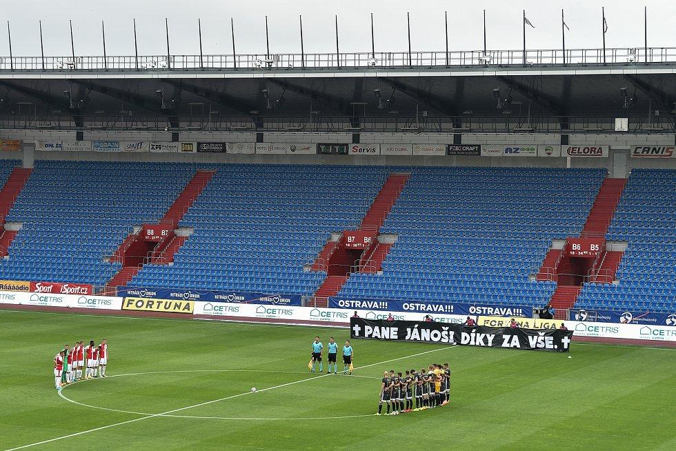 Utkání 29. kola první fotbalové ligy: FC Baník Ostrava - SK Slavia Praha, 10. června 2020 v Ostravě.