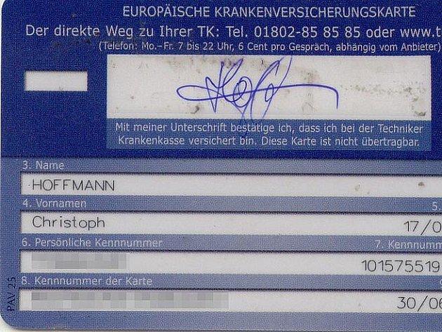 Evropský průkaz zdravotního pojištění. Ilustrační foto.