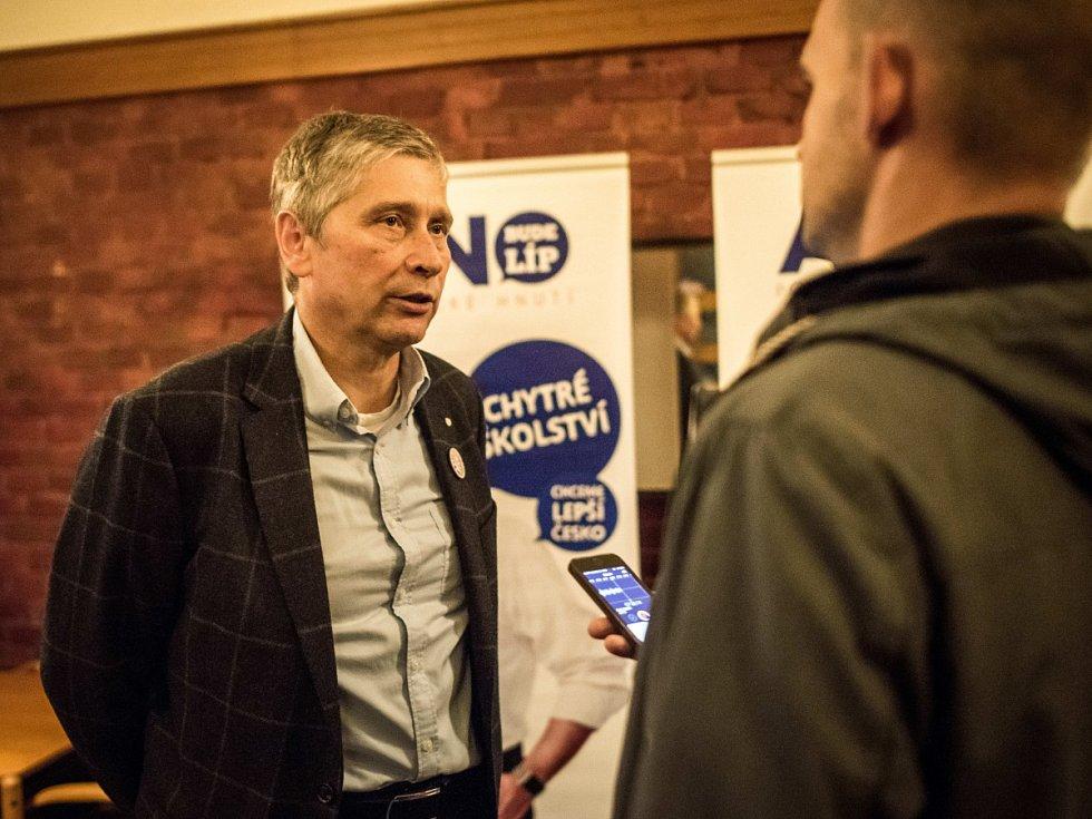 Lídr hnutí ANO v Moravskoslezském kraji Ivo Vondrák.
