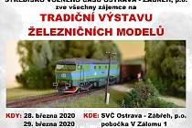 Srdečně zveme malé i velké na Výstavu železničních modelů, která proběhne 28. a 29.3. 2020 na pobočce SVČ Ostrava Zábřeh - V Zálomu 1.