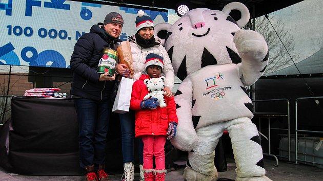 Olympijský festival v Ostravě, 25. února 2018 - stotisící návštěvník.