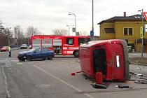 Nehoda v Halasově ulici v Ostravě-Vítkovicích