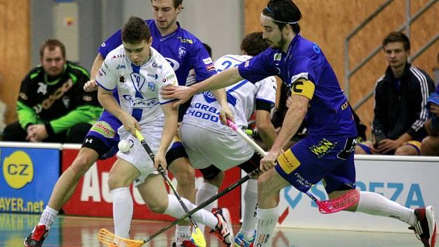 Florbalisté Vítkovic se snaží dostat do semifinále extraligy přes Chodov.