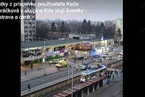 Snímek sobotní nehody v Ostravě.