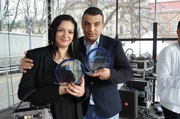 Ocenění Jolany Šmarhovyčové a Richarda Samka za Pozitivní vzor pro romskou komunitu za rok 2019.